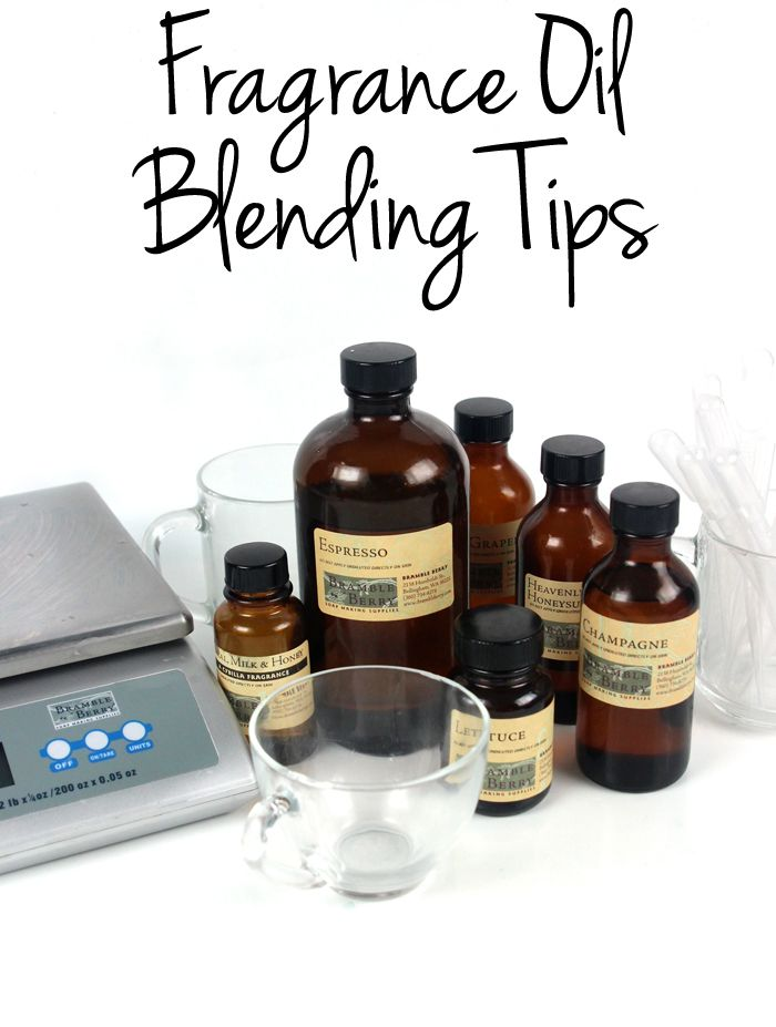 Fragrance Oil Blending Tips - yet another really informative tutorial by Bramble Berry!