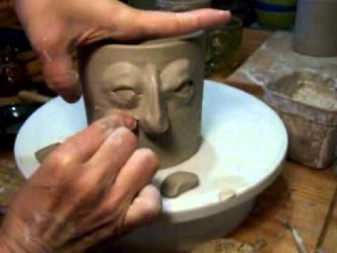 Creating a Georgia Face Jug with Janice Hall Shields - YouTube