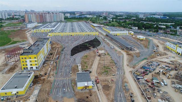 Транспортный блог Saroavto: Москва: Строительство депо «Солнцево»