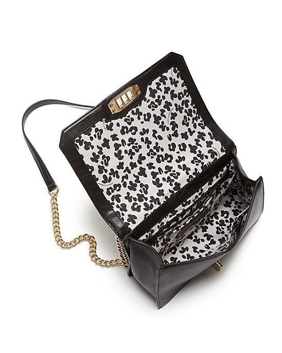 Rebecca Minkoff, Love Crossbody in Leopard Print Calf Hair, interior