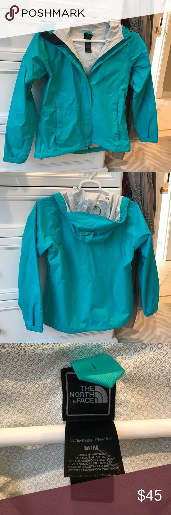 The North Face Women's Rain Jacket Excellent condition, no stains or flaws, teal green The North Face Jackets & Coats