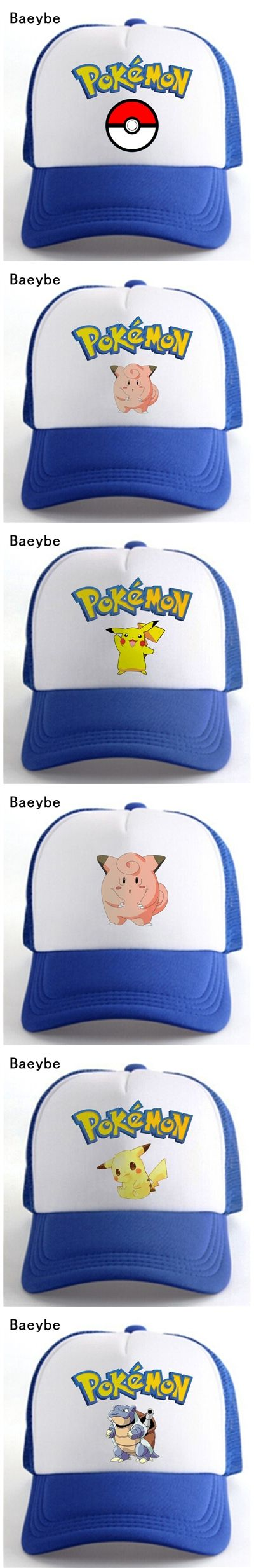 Pocket monster Ash Ketchum pokemon go cap hat baseball cap printing snapback adjustable pokemon cap hat