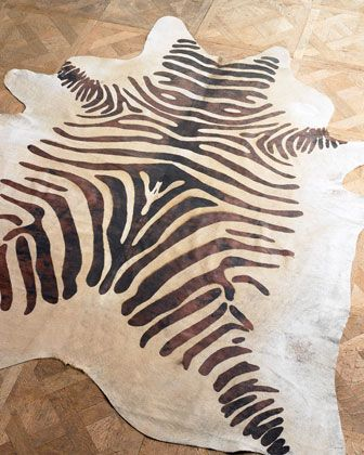 """Still dreaming of when this rug enters my house!  """"Zebra Hide"""" Rug at Horchow."""