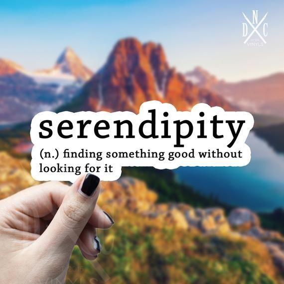 Serendipity Definition Vinyl Sticker, Best Friend Gift, Cute, Funny Stickers, Decal, Macbook Decal, Stickers Macbook Pro
