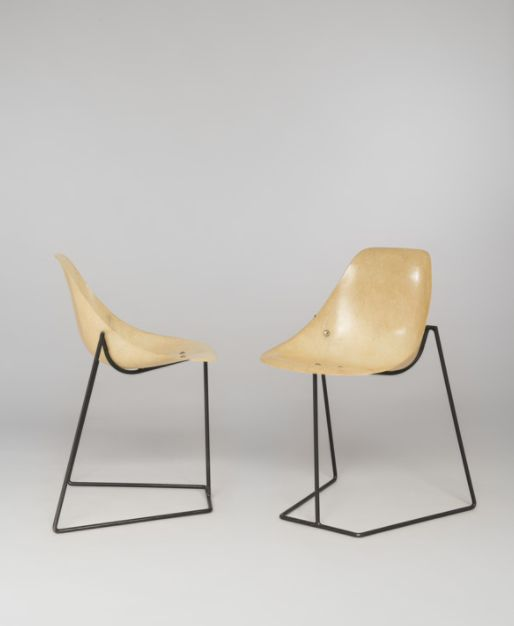 René Jean Caillette; Enameled Metal And Fiberglass U0027Coccinelleu0027 Chairs For  Steiner,