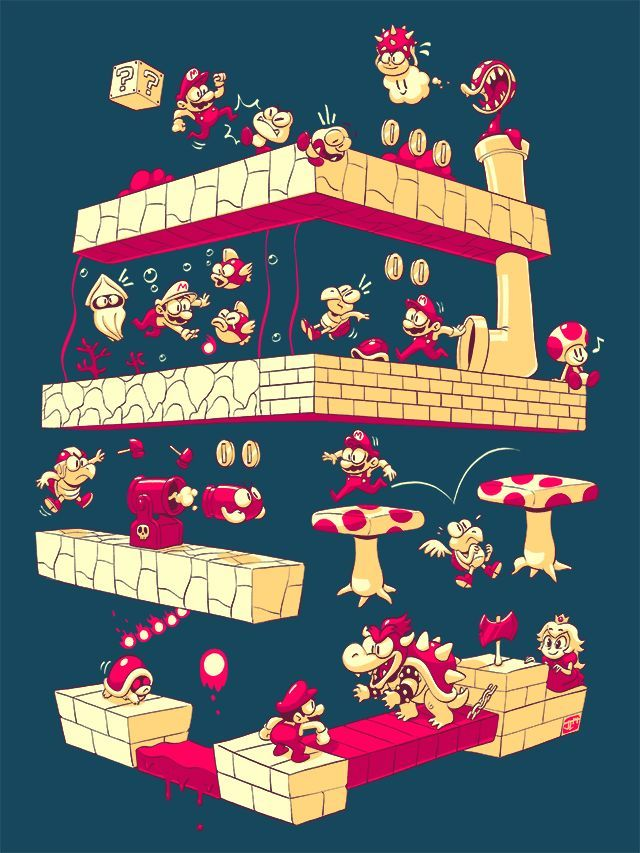 So cool. Now I really want to play Super Mario 64...  Plumber Quest - Created by Justin Chan - Embrace your inner geek, find your perfect product at gearabilia.com and connect with our incredible community.
