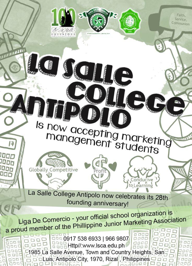 La Salle College Antipolo Ad for Business Students / Aniqa 2013  www.facebook.com/cheesekeiq