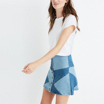 Madewell+-+Pieced+Jean+Skirt