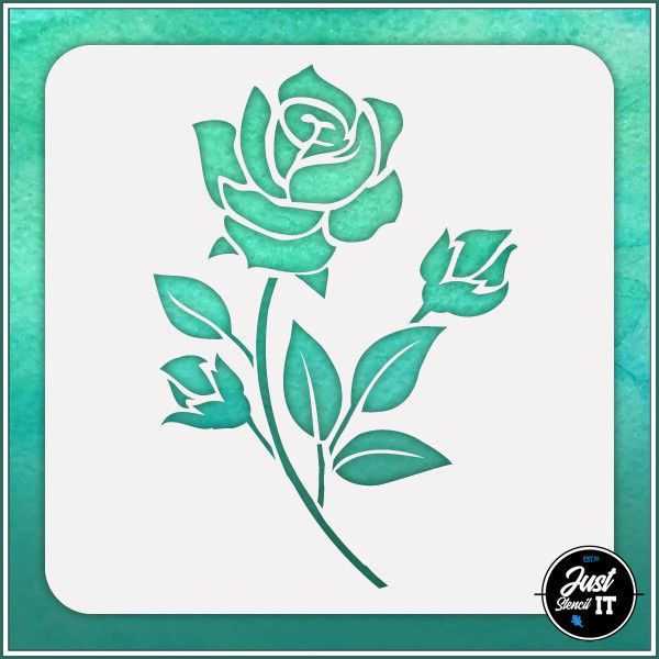 crafting and scrapbooking projects Durable and reusable stencil for DIY painting Hibiscus Flower #2