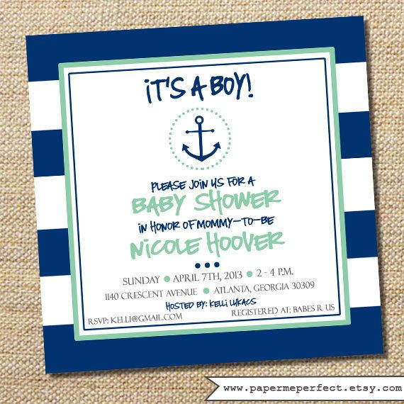 baby shower invitation it s baby girl nautical baby showers color