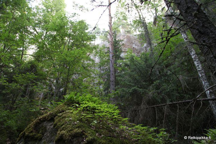 Upea jyrkänne Vihdin pohjoisosissa. Paikalla rikas rinnelehto ja muutama mainittava luola. Paljon maapuuta.