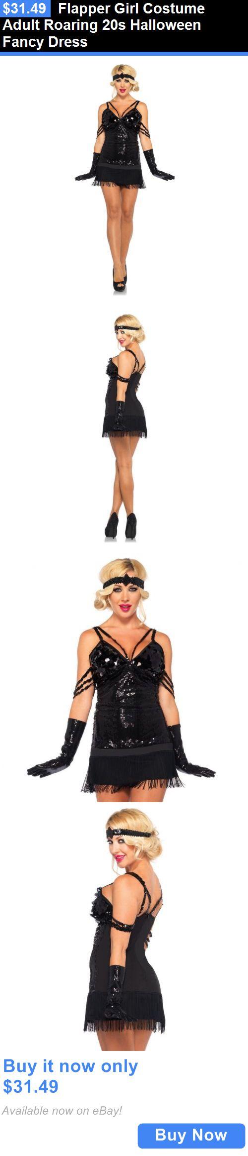 Halloween Costumes: Flapper Girl Costume Adult Roaring 20S Halloween Fancy Dress BUY IT NOW ONLY: $31.49