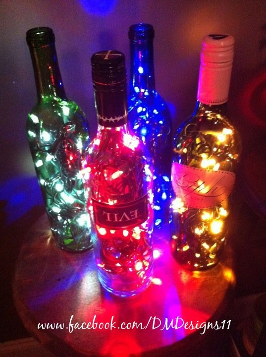 Upcycled bottle lights by DMDesigns