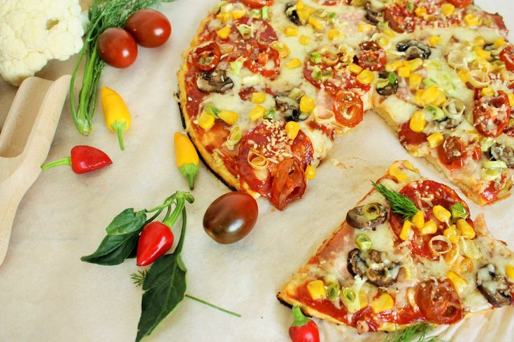 Today I made a diet pizza! I want more!