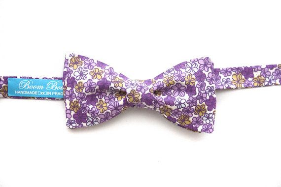 Men's Bow tie Serie Mascot Flower Floral / 100% by BoomBowTie