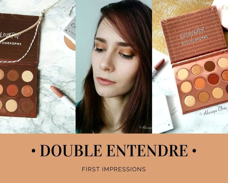 ColourPop Double Entendre Eyeshadow Palette First Impressions