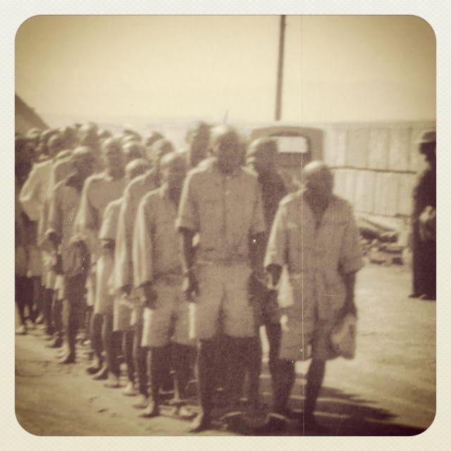Prisoners on Robben Island
