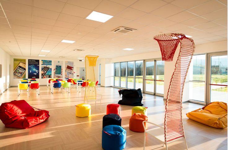 Area relax del Vetrya corporate campus ad Orvieto