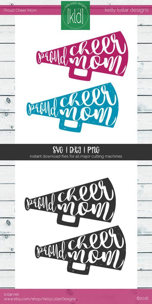 Proud Cheer Mom svg - cheerleading megaphone - Perfect cut file to make a game day shirt to support your little girl! #proudmom #cheermom #cheermomsvg