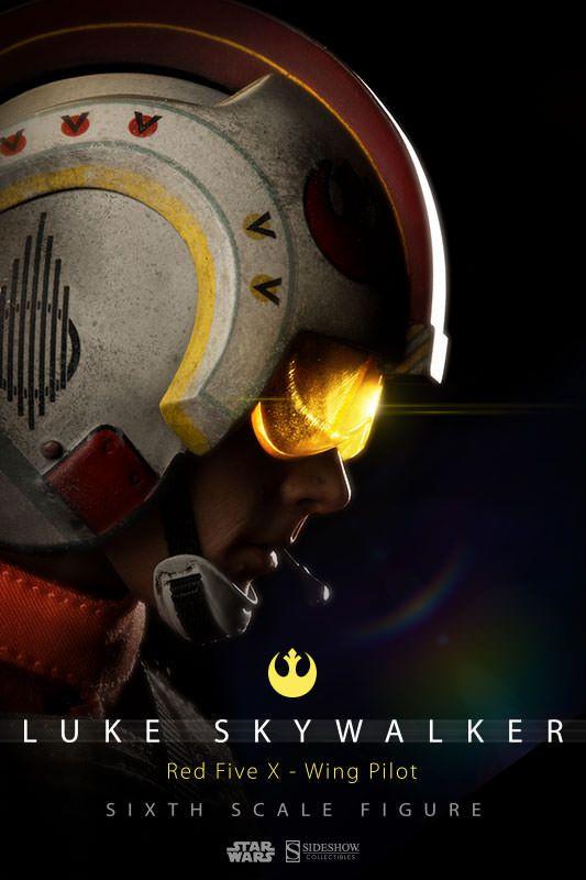 ToyzMag.com » Luke Skywalker: Red Five X-wing Pilot en précommande  Star Wars par Sideshow Collectibles