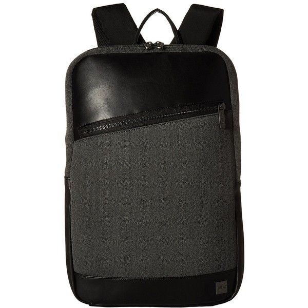 KNOMO London Holborn Southampton Backpack (Grey) Backpack Bags ($89) ❤ liked on Polyvore featuring bags, backpacks, travel backpack, knomo backpack, laptop travel bag, zip bag and grey backpack