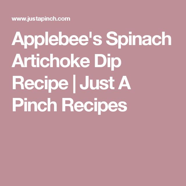 Applebee's Spinach Artichoke Dip Recipe | Just A Pinch Recipes