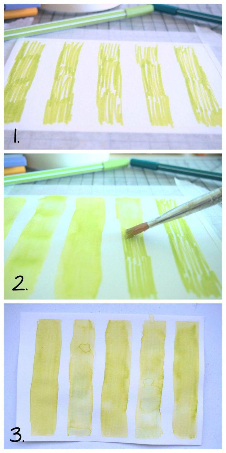 tutoriel feutre aquarellable stabilo pen 68