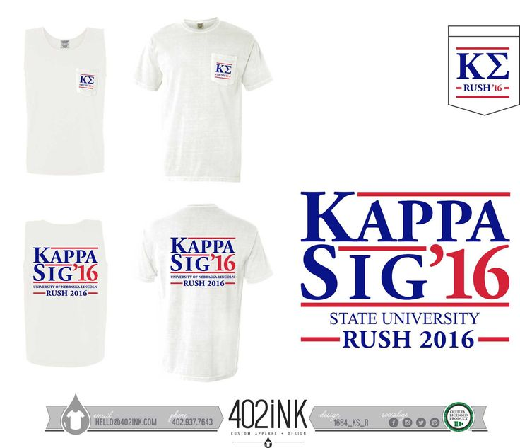 #402ink #402style 402ink, Custom Apparel, Greek T-shirts, Sorority T-shirts, Fraternity T-shirts, Greek Tanks, Custom Greek Apparel, Screen printed apparel, embroidered apparel, Fraternity, KAPPASIG, Kappa Sigma, Rush                                                                                                                                                      More