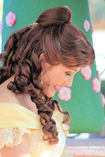 Belle; Her Hair!!! im considering being Belle for Halloween to pass candy out to the kids :)