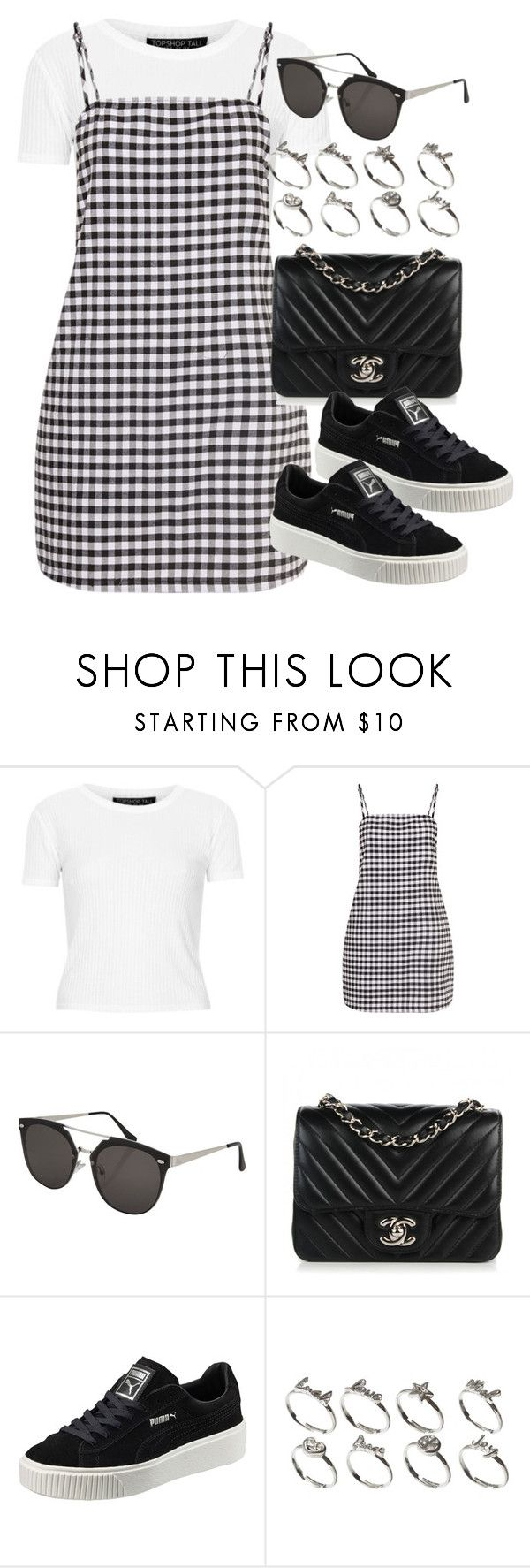 """""""Sin título #12654"""" by vany-alvarado ❤ liked on Polyvore featuring Topshop, Chanel, Puma and ASOS"""