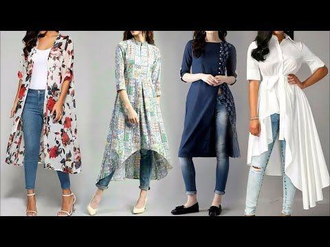 c2e8b7b4d Latest Kurti Kurta With Jeans Designs 2018