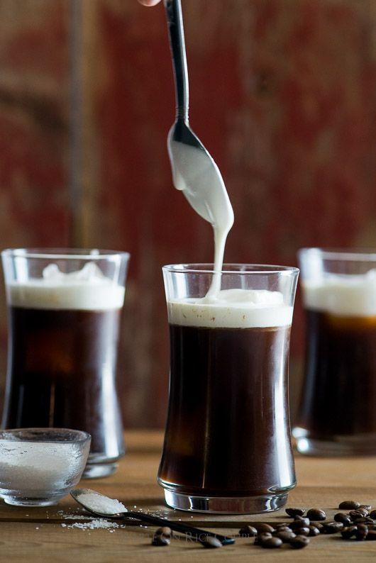 Sea Salt Cream Iced Coffee: Homemade heaven with espresso, cream and sea salt
