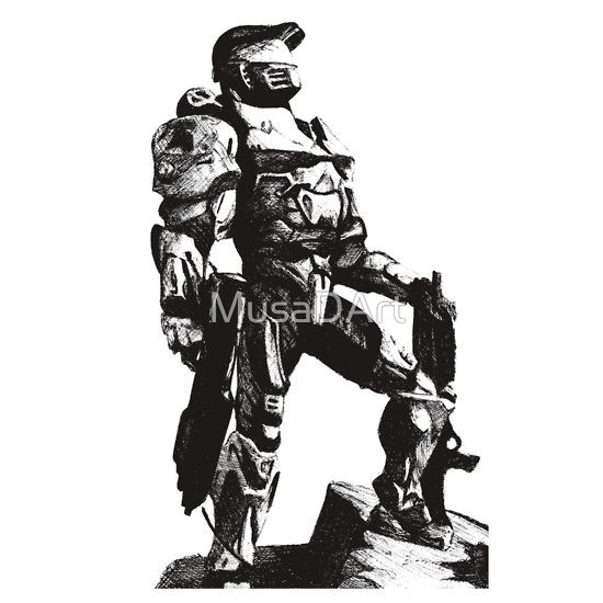 Halo Chief Available to buy on…T-Shirts, Hoodies, Cases, Stickers, Throw Pillowsand Tote Bags. MASTER CHIEF FANS GET ON IT.