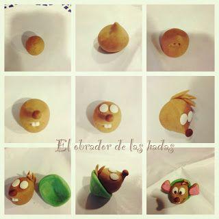 Cindirella cake topper / mouse