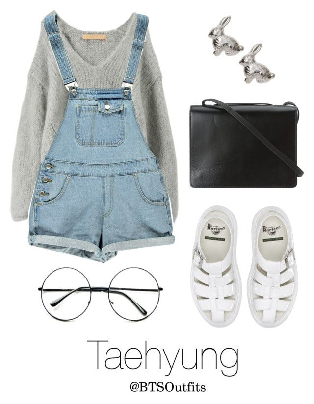 """""""LA Date with Taehyung"""" by btsoutfits ❤ liked on Polyvore featuring Iliann Loeb, Boohoo, Dr. Martens, Retrò and BCBGMAXAZRIA"""