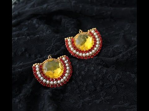 Creative fingers: How to make Simple and beautiful Chandbali earrings easily/Esy chandbali earrings tutorial