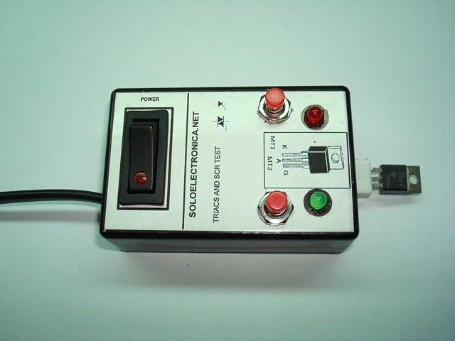 THYRISTOR AND TRIAC TESTER