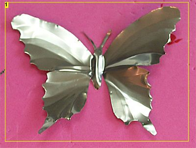 Butterflies made out of soda cans