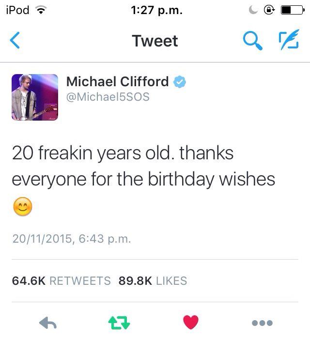 Mikey birthday tweet yesterday