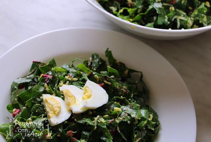 Рецепт салата из листьев мангольда | Рецепты от Аси
