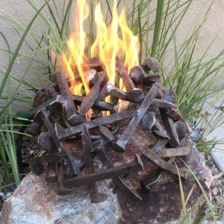 FIRE DOME Fire dome from old rail spikes    for… | Outdoor