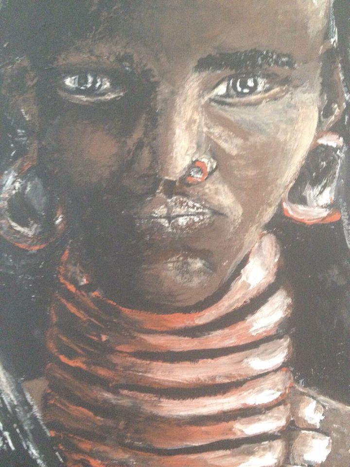 Ethiopian woman Acrylic