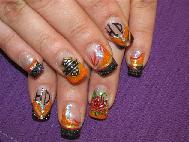 1000 Images About Motorcycle Nail Art On Pinterest
