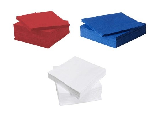 The perfect 4th of July necessities! Don't forget to pick up some packs of FANTASTISK paper napkins for your summer gatherings. @IKEA USA