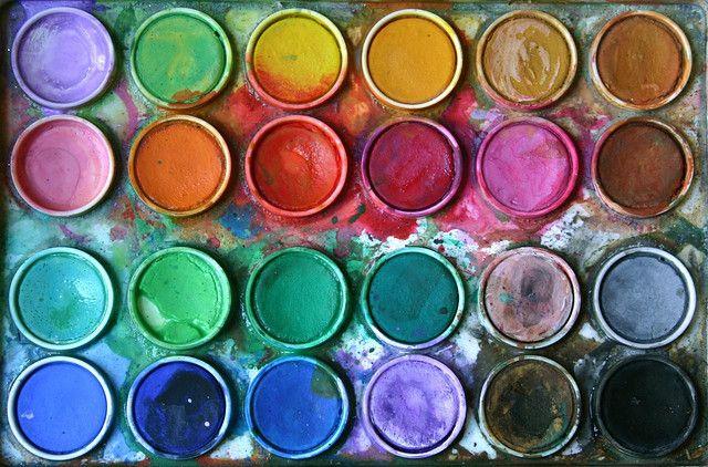 paint.: Art Studios, Watercolor Paintings, Bright Colour, Paintings Colors, Colors Palettes, Colour Palettes, Paintings Palettes, Water Colors, Paintings Colour