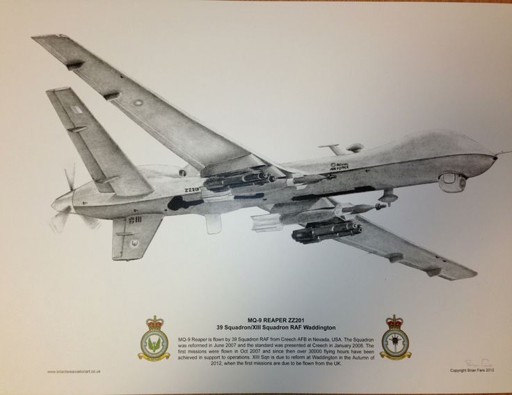 Limited Edition print MQ-9 Reaper - signed by artist (only 100 commissioned)