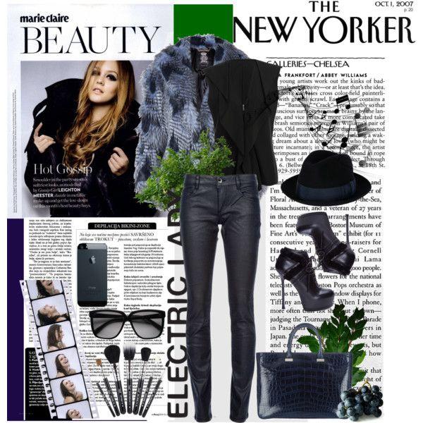 """New Yorker Lady"" by xenia-makridou on Polyvore"