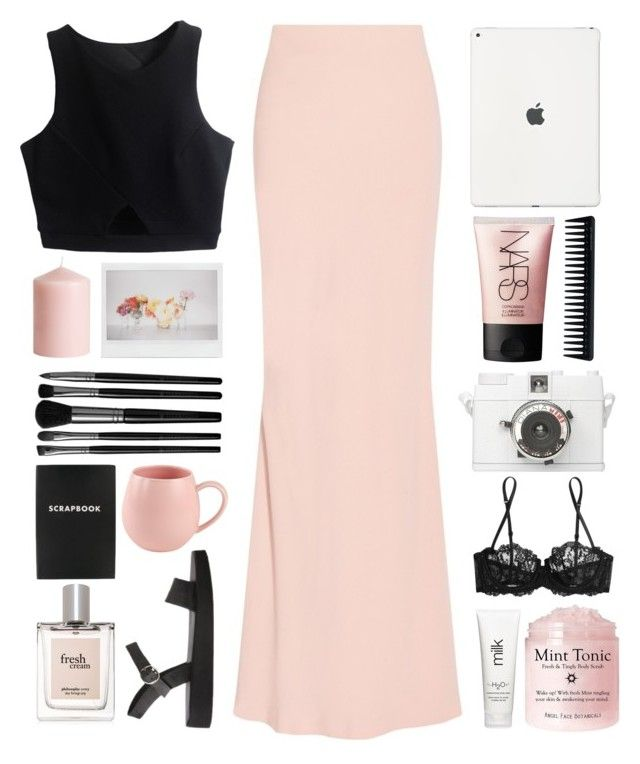 """"" by seriouskatya ❤ liked on Polyvore featuring Alexander McQueen, GHD, La Perla, Illamasqua, H&M, NARS Cosmetics, philosophy, H2O+ and Spring"