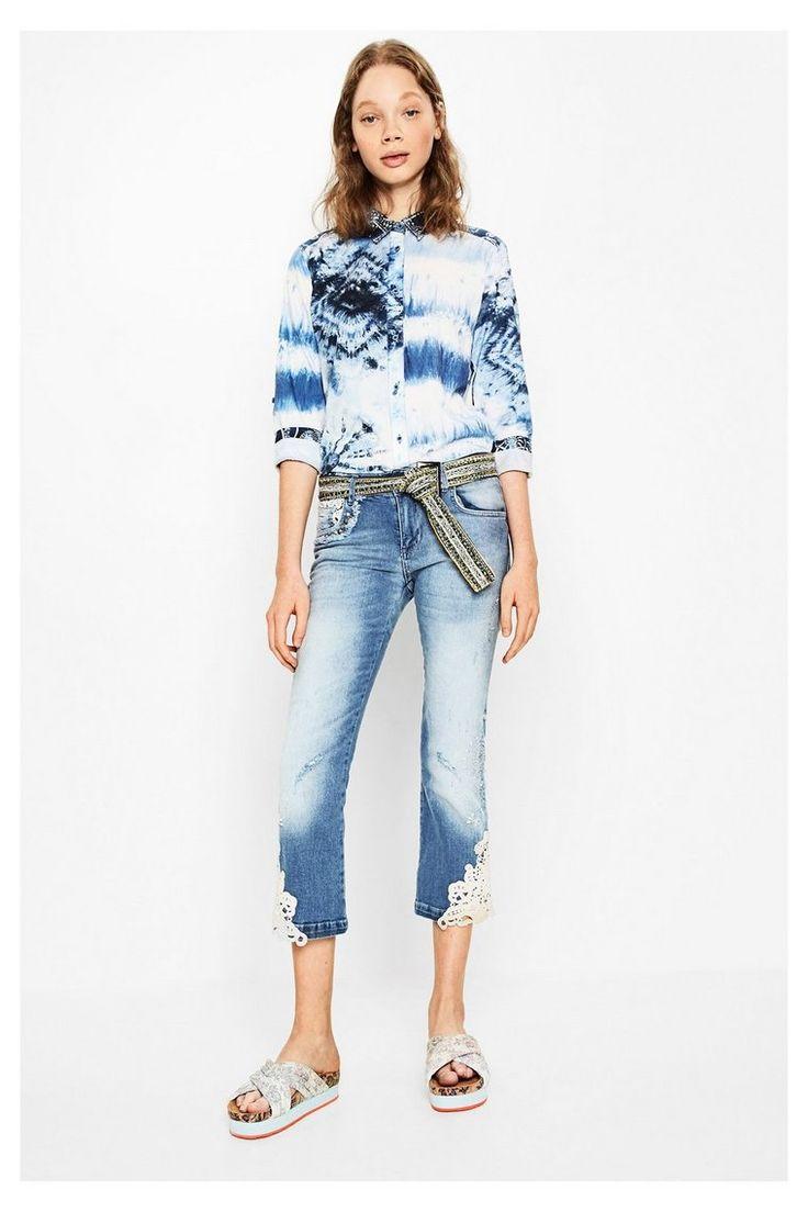 Blue jeans gamba larga - Luce lavare 3 |  Desigual.com 5007