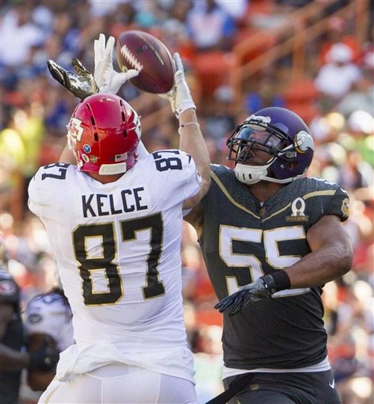 f296e5bbc ... Jersey Kansas City Chiefs tight end Travis Kelce (87) of Team Rice  catches a pass ...